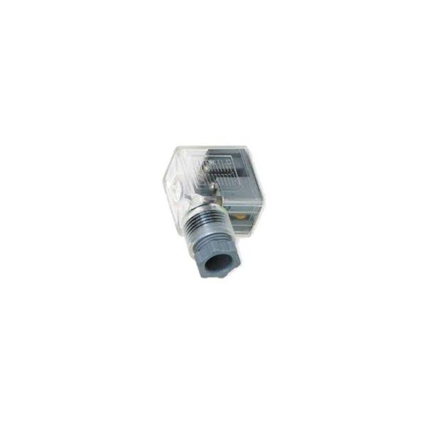 Wtyk do cewki elektromagnetycznej 22 mm 24V z LED CZERWONY