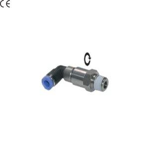 """Złączka kątowa 90 stopni wtykowa obrotowa 1/4"""" 8 mm"""
