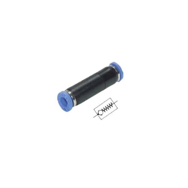 Złączka prosta przelotowa z zaworem dławiąco zwrotnym 4 mm