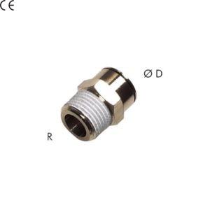"""Złączka prosta z gwintem stożkowym 1/4"""" 12 mm"""