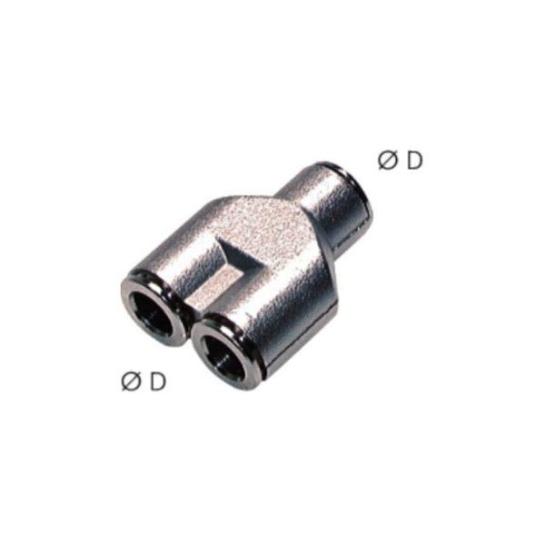 Trójnik wtykowy Y 8 mm
