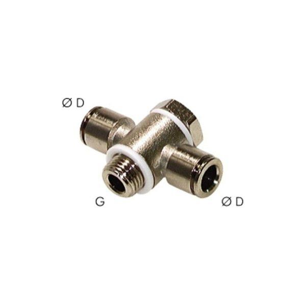 Złączka wtykowa obrotowa T M5 4 mm