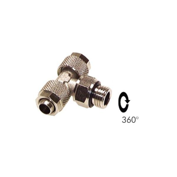 """Trójnik skręcany obrotowy G 1/8 """" 8 x 6 mm"""