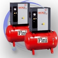 Sprężarki śrubowe Fini MICRO wersja na zbiorniku
