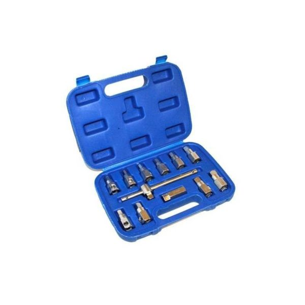 Zestaw kluczy nasadowych do korków oleju S-12ODP - 12 szt.