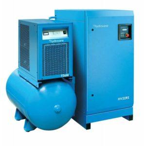 Sprężarka łopatkowa HYDROVANE ze zbiornikiem 272 l z osuszaczem i filtracją 11 kW 400V 8 bar