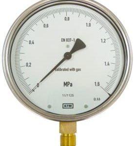 Manometr kontrolny 0-0,1 MPa w klasie dokł.0,6