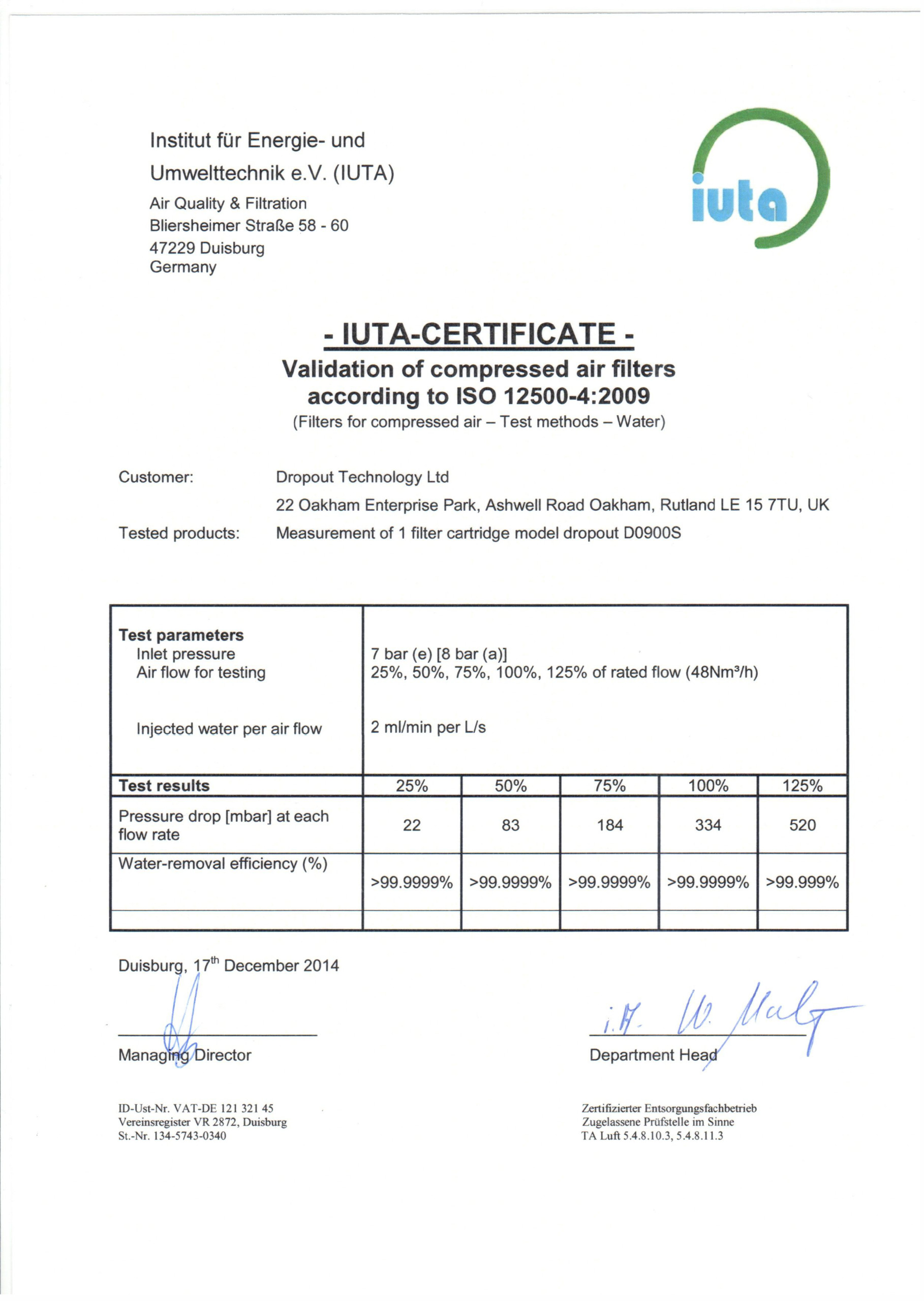 DROPOT ISO CERTIFICATE WATER REMOVAL 1